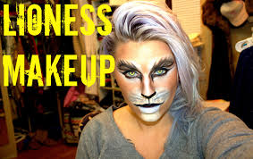 halloween cat eye contacts lioness makeup halloween 2014 youtube