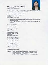 Housekeeper Sample Resume by Housekeeper Cv Sample Sample Resume For Housekeeper 2017