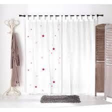 voilage chambre fille voilage blanc étoiles roses pour chambre d enfant