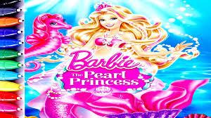 barbie coloring book fun art speed coloring barbie mermaid