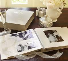 White Wedding Album Engravable Photo Album Pottery Barn