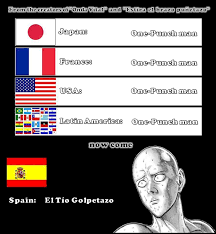 Spain Meme - damn spain you screw up the dubbing of all one punch man know