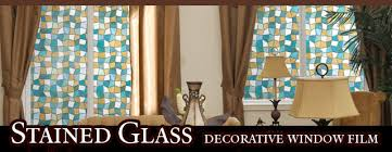 Decorative Window Decals For Home Stained Glass Window Film Decorative And Privacy Stained Glass
