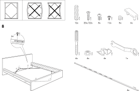 ikea beds malm bed frame full double pdf assembly instruction free