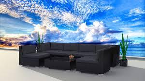 Modern Wicker Patio Furniture - urbanfurnishing net 7b blackseries charcoal black series 7b