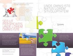 fancy brochure templates fancy jigsaw brochure template design and layout now