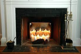 decorating brick fireplace for candles inside
