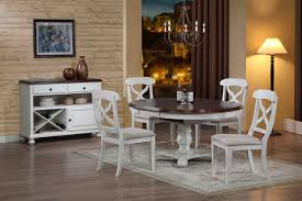 Sunset Trading Pc Andrews Pedestal Dining Set In Antique White - Antique white pedestal dining table