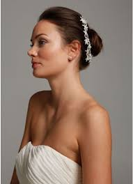 davids bridal hairstyles flower bun wrap with crystals david s bridal