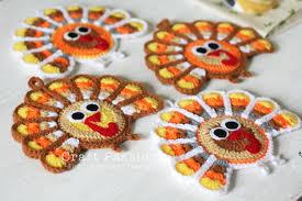 turkey coasters free crochet pattern craft