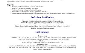 resume sql developer resume sample stunning net developer resume