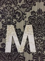 pearl decorated letter 6 steps with pictures