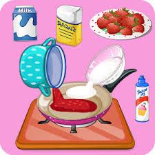 jeux de cuisine aux fraises jeux de cuisine fraises à la crème applications android sur