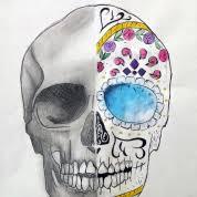 sugar skull drawings ms murtagh s room