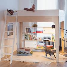 perch twin loft bed in white and birch by oeuf rosenberryrooms com