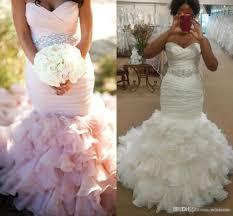 plus size pink wedding dresses vintage 2017 white pink plus size mermaid wedding dresses