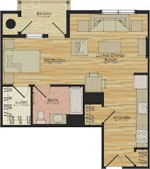Studio Apartment Floor Plan by Studio Apartments U2013 Flats 520 U2013 North Haven Ct Appartments