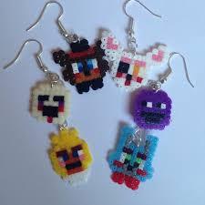 halloween earrings five nights at freddy u0027s 2 perler bead earrings halloween