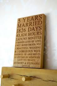 5th wedding anniversary ideas 5th anniversary wall plaque makemesomethingspecial co uk