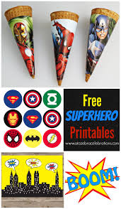 free superhero party printables future bday parties pinterest