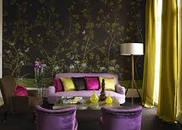prepossessing 80 purple and green living room accessories