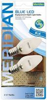 Led Light Bulbs To Replace Fluorescent by Meridian Electric 13121b Blue Led Replacement Night Light Bulbs 2
