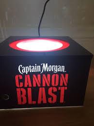 captain morgan neon bar light captain morgan cannon blast back bar glorifier light stand general