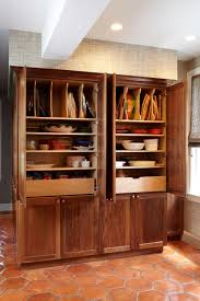 kitchen freestanding larder cupboard oak pantry cabinet tall