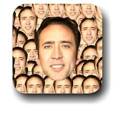 Nicolas Cage Face Meme - nicolas cage face everywhere meme drink coaster gift coaster gift