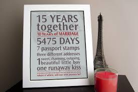 15 year anniversary gift wedding gift 15 years wedding anniversary gift 35 year wedding