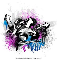 black graffiti sketch blue pink grunge stock vector 25940878