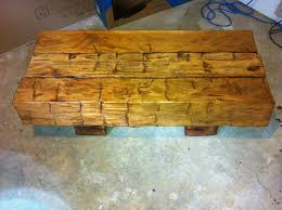 barn beam coffee table by alteredwood lumberjocks com