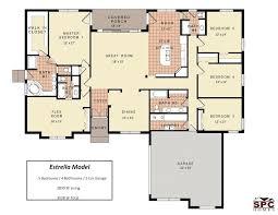 5 bedroom floor plans 1 story 5 bedroom floor plans one story bedroom home floor plans single