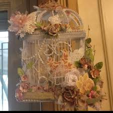 Shabby Chic Bird Cages by 85 Best Altered Bird Cage Images On Pinterest Bird Houses