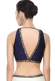 9 modern v shaped blouse neck designs at back and front