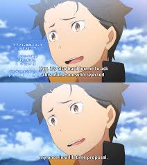 Rejected Meme - no running away re zero starting life in another world know
