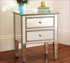 bedroom magnificent mirrored bedside table sale white nightstand