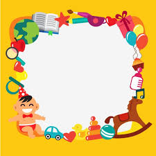 cornice per bambini cornice per bambini di cartone animato scaricare vettori gratis
