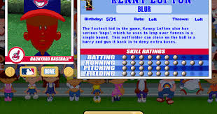 Kenny Backyard Baseball Viva La Vita Backyard Baseball 2001 Draft Second Round Recap And