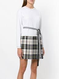 plaid skirt miu miu plaid skirt dress farfetch
