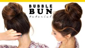 different hairstyles in buns 2 minute bubble bun hairstyle easy hairstyles for medium long hair