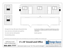 Office Space Floor Plan 8 U0027 X 40 U0027 Ground Level Container Office Design Space Modular