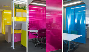 bold colors a balance of privacy and views for a collaborative creative