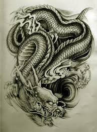 red ink japanese dragon tattoo design photo 3 photo pictures