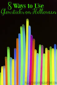 8 ways to use glow sticks on halloween frugal finds during naptime