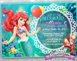 little mermaid birthday invitations redwolfblog com