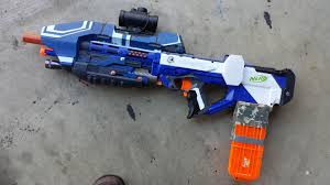nerf car gun 3d printed nerf halo 5 assault rifle takes humans vs zombies game