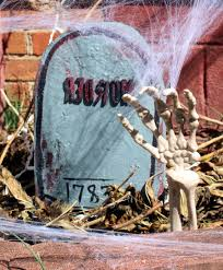 diy halloween tombstones from upcycled cereal boxes
