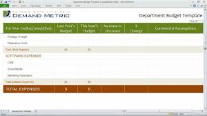 Excel Budget Spreadsheet Department Budget Template Youtube