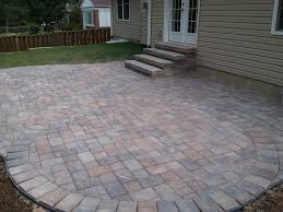 exterior fantastic design for backyard decoration with paver